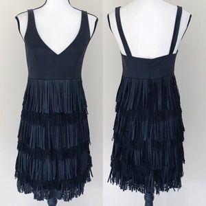 Maria Bianca Nero Lace Fringe Dress